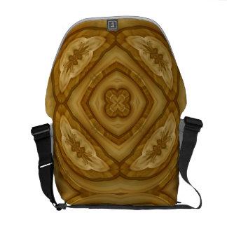 Modelo de madera abstracto bolsas de mensajeria