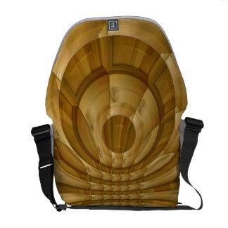 Modelo de madera abstracto bolsas messenger