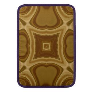 Modelo de madera abstracto fundas macbook air