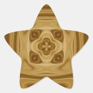 Modelo de madera abstracto pegatina en forma de estrella