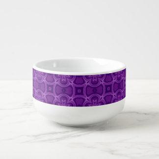 Modelo de madera abstracto púrpura cuenco para sopa