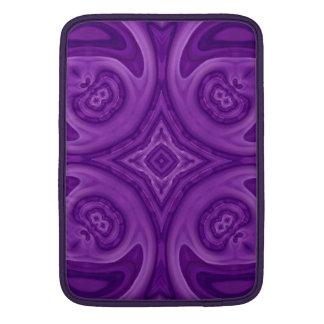 Modelo de madera abstracto púrpura funda para macbook air