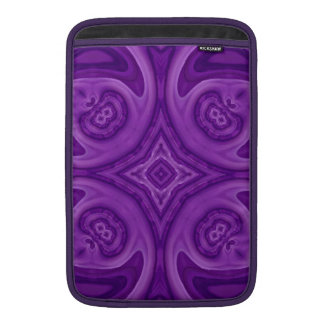 Modelo de madera abstracto púrpura funda  MacBook
