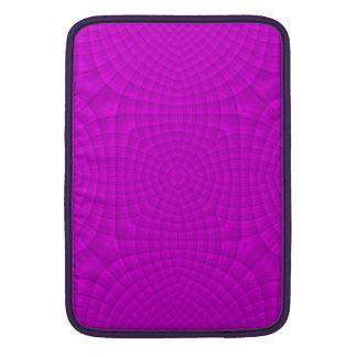 Modelo de madera abstracto púrpura fundas para macbook air