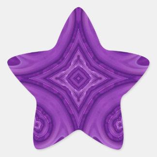 Modelo de madera abstracto púrpura pegatina en forma de estrella