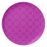 Modelo de madera abstracto púrpura platos de comidas