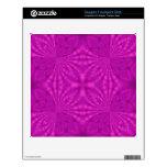 Modelo de madera abstracto púrpura calcomanía para FreeAgent desk