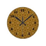 Modelo de madera abstracto reloj