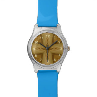 Modelo de madera abstracto relojes de pulsera