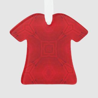 Modelo de madera abstracto rojo