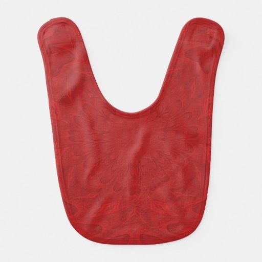 Modelo de madera abstracto rojo baberos de bebé