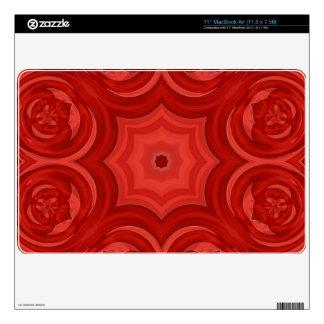 Modelo de madera abstracto rojo calcomanía para 27,9cm MacBook air