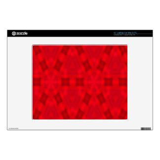 Modelo de madera abstracto rojo calcomanía para 30,5cm portátil