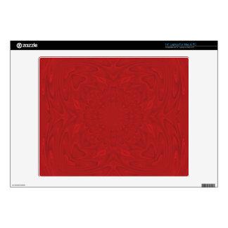 Modelo de madera abstracto rojo calcomanía para 35,6cm portátil