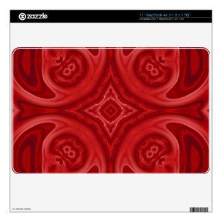 Modelo de madera abstracto rojo calcomanía para el MacBook
