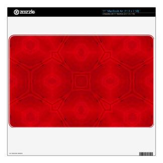 Modelo de madera abstracto rojo calcomanía para el MacBook air