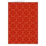Modelo de madera abstracto rojo felicitación