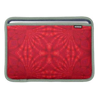 Modelo de madera abstracto rojo funda  MacBook