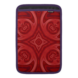 Modelo de madera abstracto rojo fundas macbook air