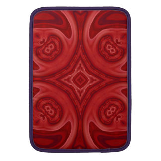 Modelo de madera abstracto rojo funda para macbook air