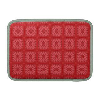 Modelo de madera abstracto rojo funda macbook air