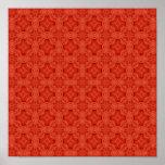 Modelo de madera abstracto rojo impresiones