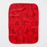 Modelo de madera abstracto rojo paños para bebé