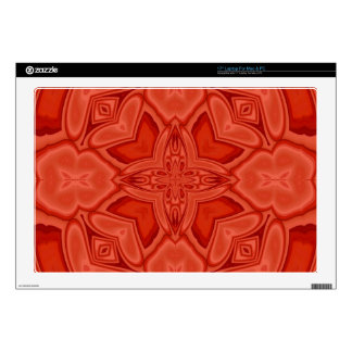 Modelo de madera abstracto rojo portátil 43,2cm skin