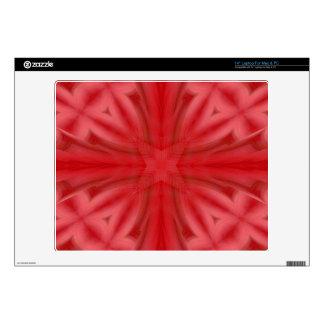 Modelo de madera abstracto rojo skins para 35,6cm portátil