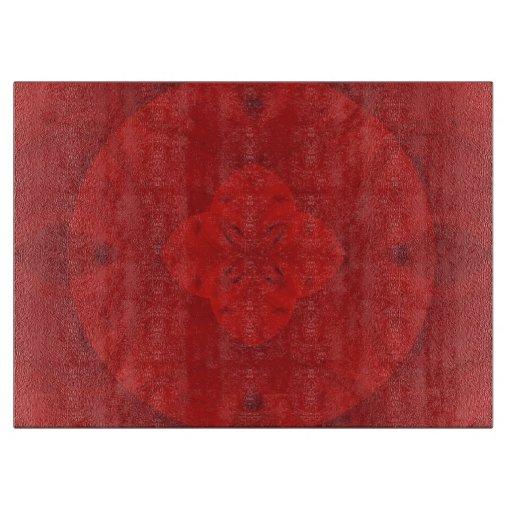 Modelo de madera abstracto rojo tabla de cortar