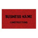 Modelo de madera abstracto rojo tarjetas de visita