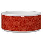 Modelo de madera abstracto rojo tazones para perro