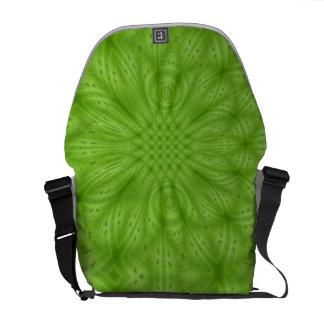 Modelo de madera abstracto verde bolsas de mensajería
