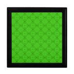 Modelo de madera abstracto verde cajas de recuerdo