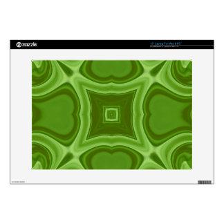 Modelo de madera abstracto verde calcomanías para 38,1cm portátiles