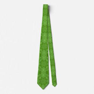 Modelo de madera abstracto verde corbatas personalizadas