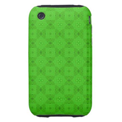 Modelo de madera abstracto verde iPhone 3 tough fundas