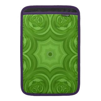 Modelo de madera abstracto verde fundas macbook air