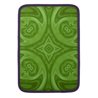 Modelo de madera abstracto verde funda  MacBook