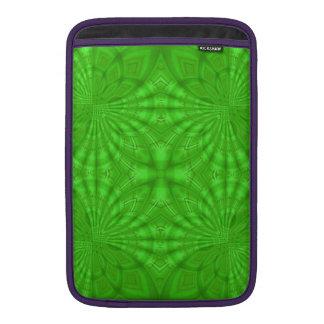 Modelo de madera abstracto verde funda macbook air