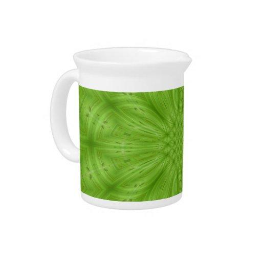 Modelo de madera abstracto verde jarra
