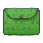 Modelo de madera abstracto verde fundas para macbooks