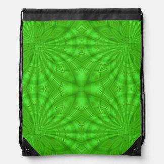 Modelo de madera abstracto verde mochilas