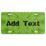 Modelo de madera abstracto verde placa de matrícula