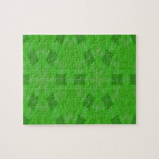Modelo de madera abstracto verde puzzles