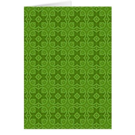 Modelo de madera abstracto verde tarjeton