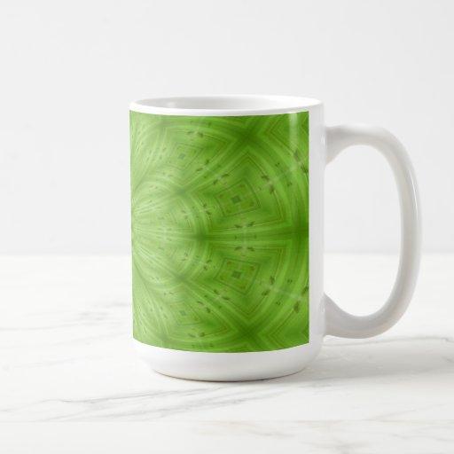 Modelo de madera abstracto verde taza clásica