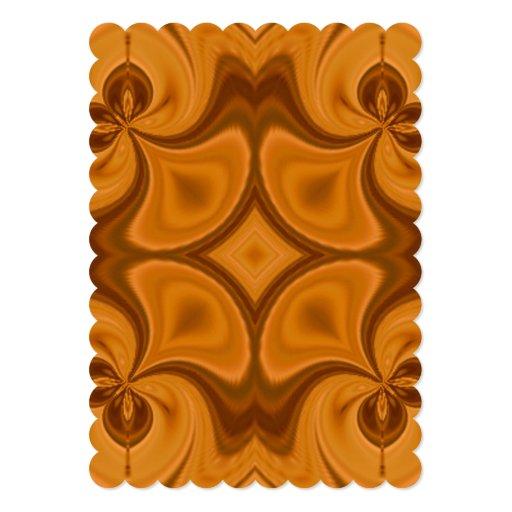 """Modelo de madera anaranjado decorativo invitación 5"""" x 7"""""""