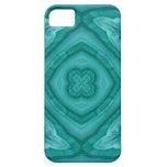Modelo de madera azul abstracto iPhone 5 Case-Mate carcasas