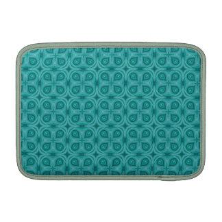 Modelo de madera azul abstracto funda macbook air